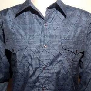 Panhandle Shirt Mens Sz XL Poly Cotton Diamond